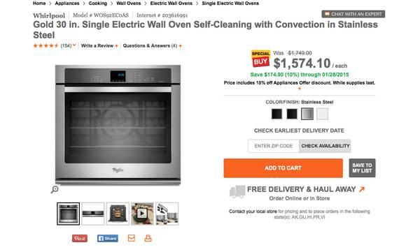 Whirlpool 30 in. Self-Cleaning Single Wall Oven - 0 (gulf breeze)-00x0x_6yuwrso1zg3_600x450-jpg
