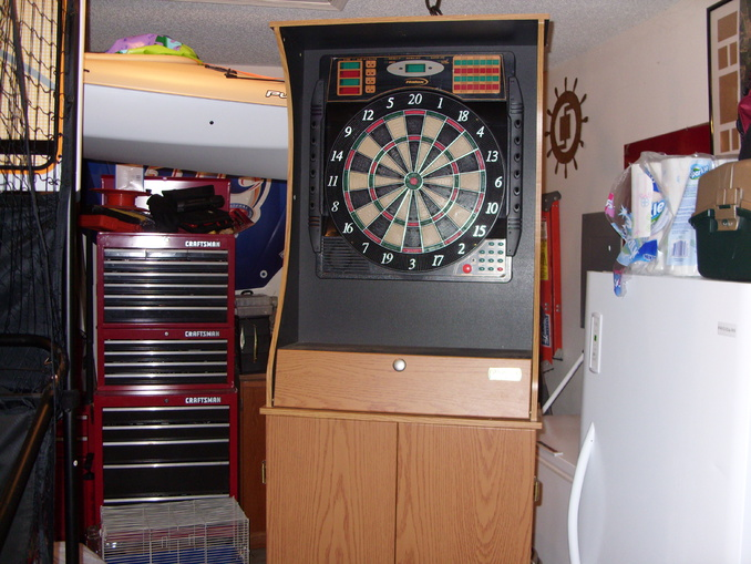 Halex Electronic Dartboard With Cabinet Home Decor