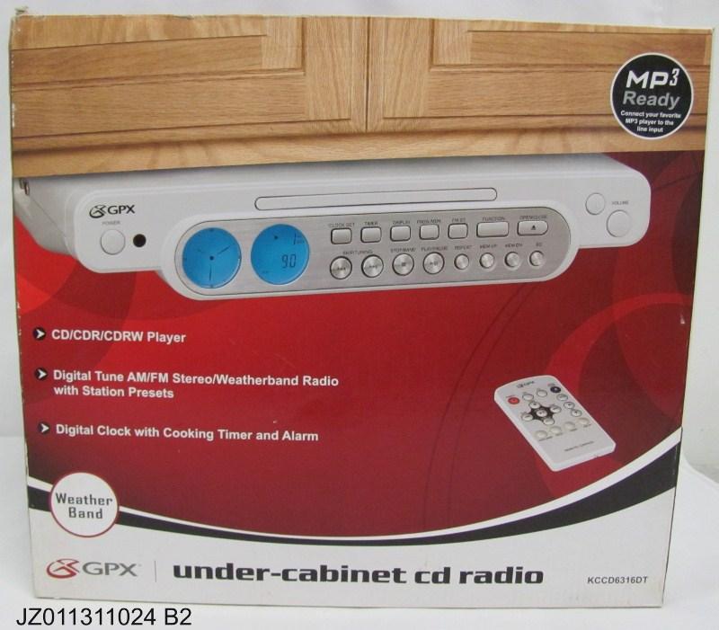 Under cabinet am fm cd clock radio sony computers electronics car
