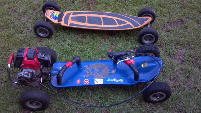 Fs or trade, off road gas skateboard/carve surf trainer.-045-jpg
