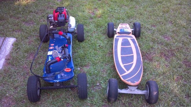 Fs or trade, off road gas skateboard/carve surf trainer.-046-jpg