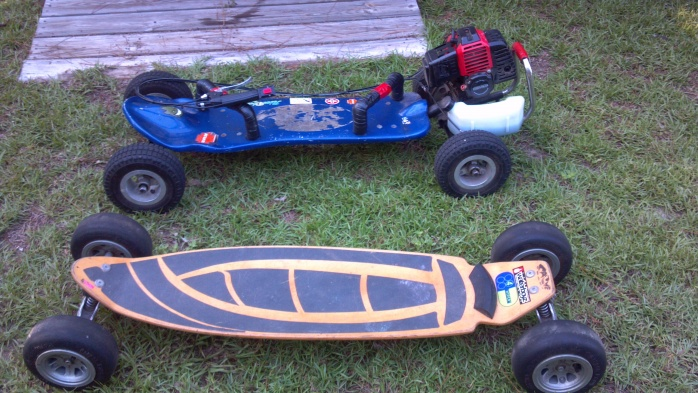 Fs or trade, off road gas skateboard/carve surf trainer.-047-jpg