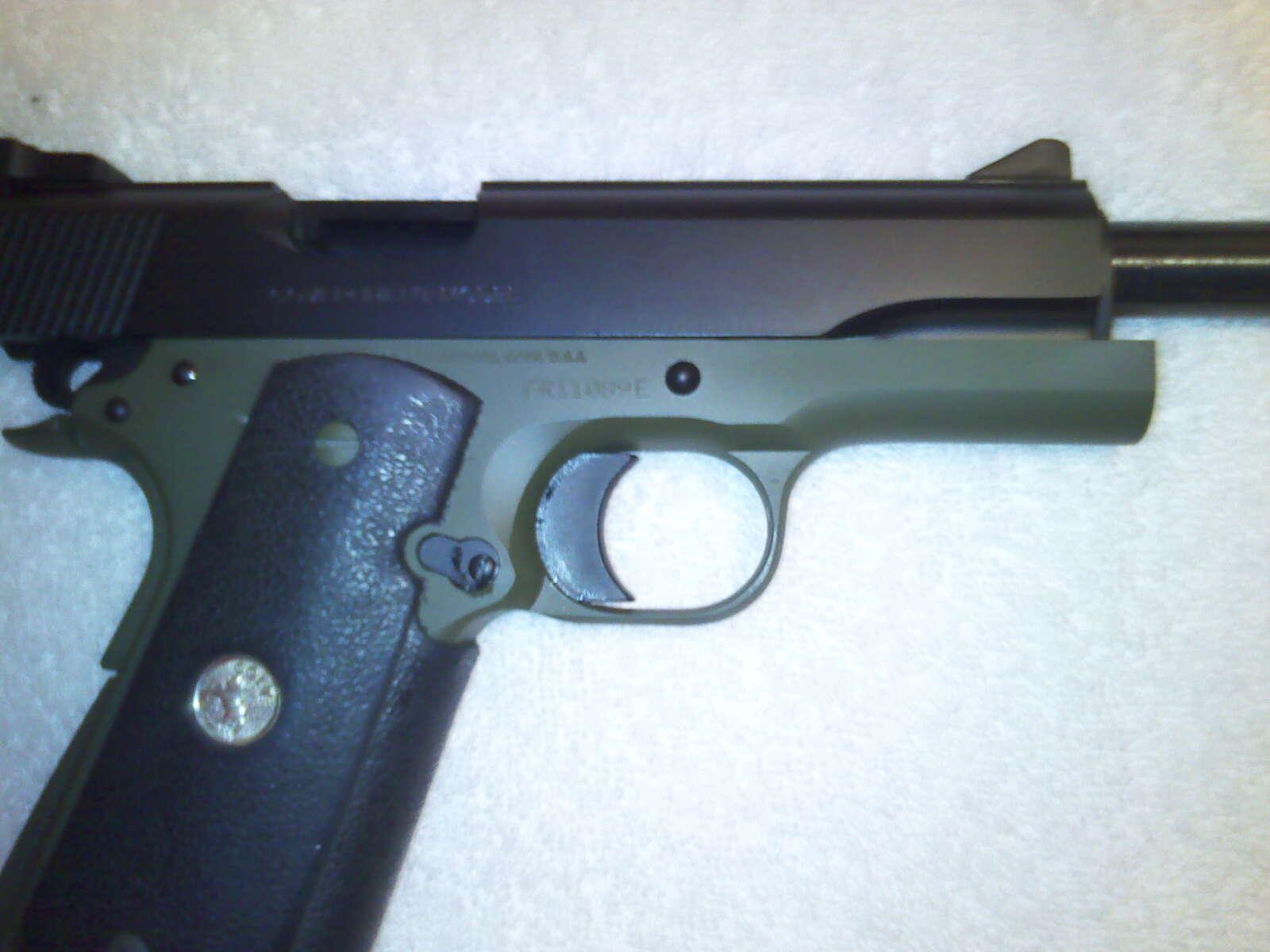 Old Colt 1911 with Cerakote coating-10-12-11_1843-jpg