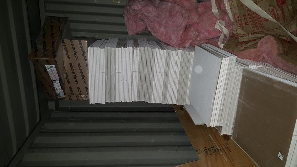 Vinyl back gypsum ceiling tile 2'x2' for grid ceilings in wet areas.-14592287773491040788945-jpg