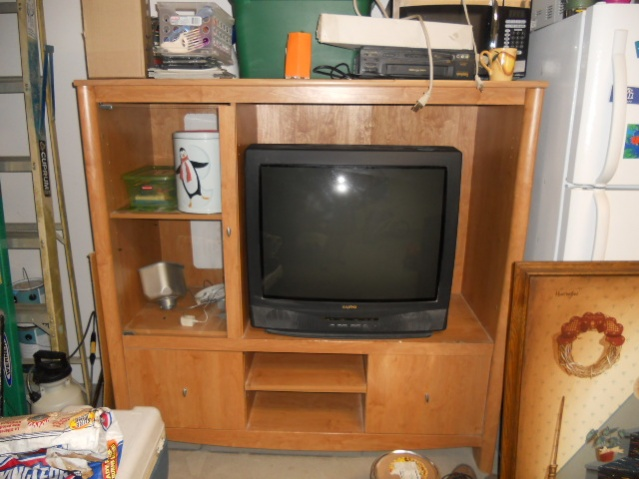 """Entertainment center and a """"32 SANYO tv FS and a Antique Dresser-2012-xxx123-834-jpg"""