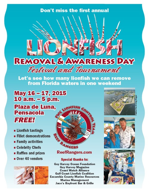 Big FWC lionfish event to be held in Pensacola-2015-lrad-flyer-jpg