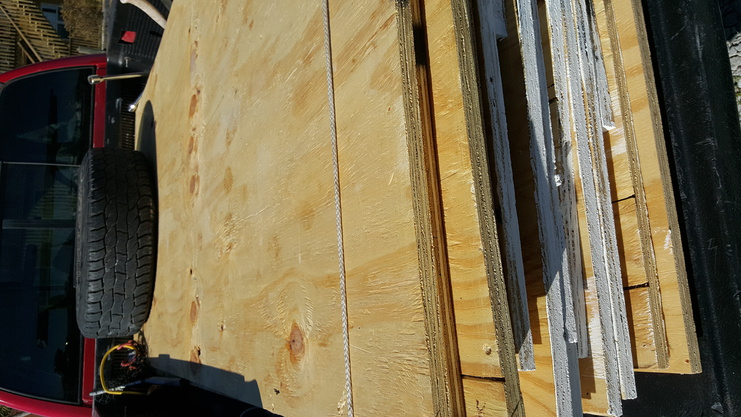 14 pieces of 4x8,  3/4 inch plywood sheeting for sale. 0 delivered up to 30 miles-20160209_134133-jpg