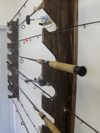 Vertical Fishing Rod Rack Plans