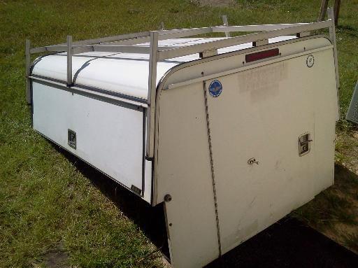 Pickup Truck Half Camper Shell