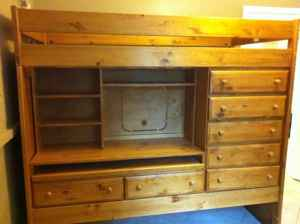 Child's loft bed w/built in desk & drawers   Pensacola Fishing Forum