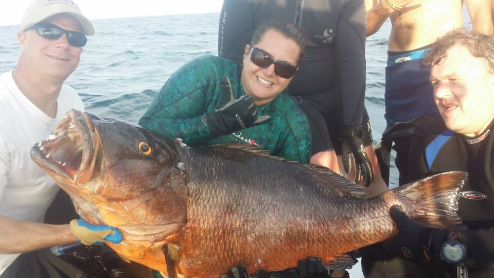 Local dive master shoots 81 pound cubera snapper-81lbcubera-jpg