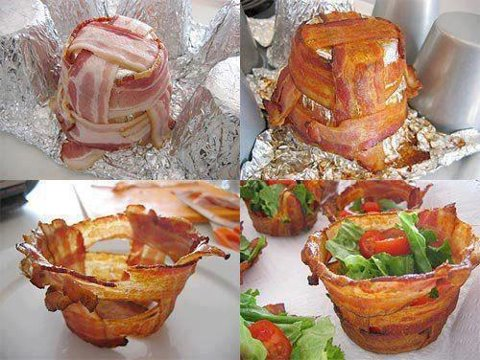 Amazing Salad Bowl Idea For You Bacon Fan's...-baconsaladbowl-jpg