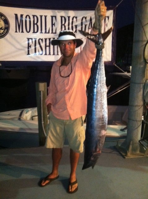 Team My Share Report from MBGFC Billfish Limited Tournament-cade-holding-wahoo-weigh-jpg