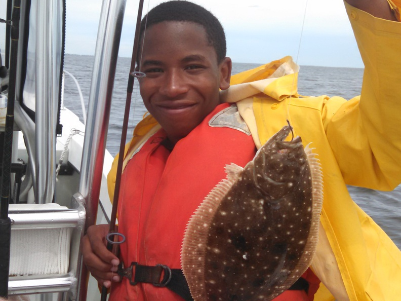 Hargreaves .. Day 1  Friday June 13  fishing in the rain-day-1-jamarrious-flounder-jpg