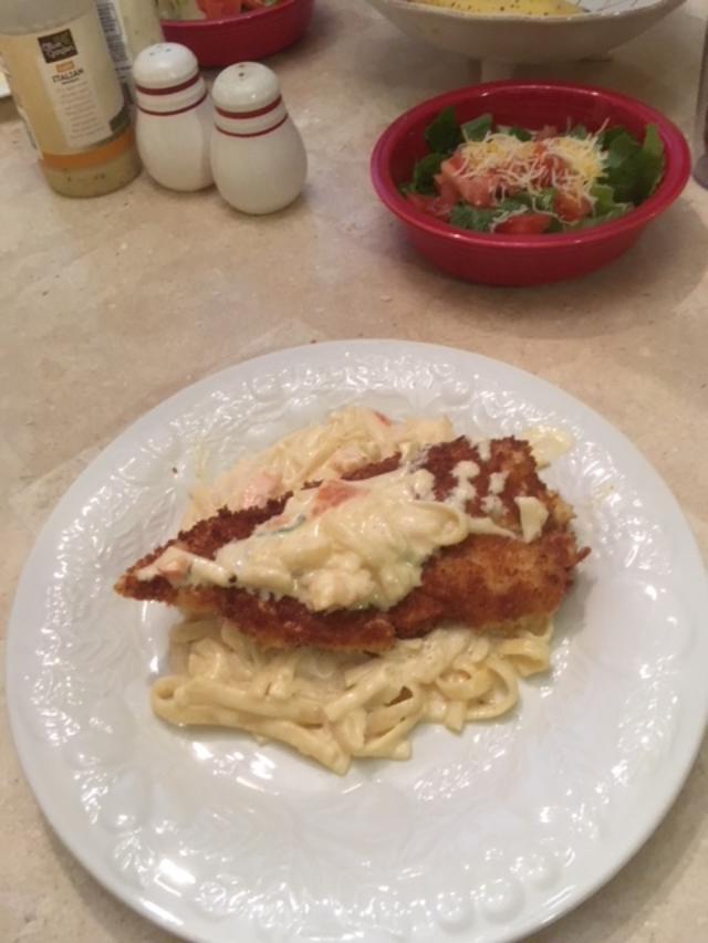 Shrimp Scampie/Flounder leftovers docktored up-dinner-jpg