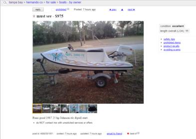 craigslist ad - Pensacola Fishing Forum
