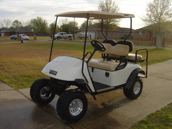 Lifted ezgo golf cart pensacola fishing forum for Fishing carts for sale
