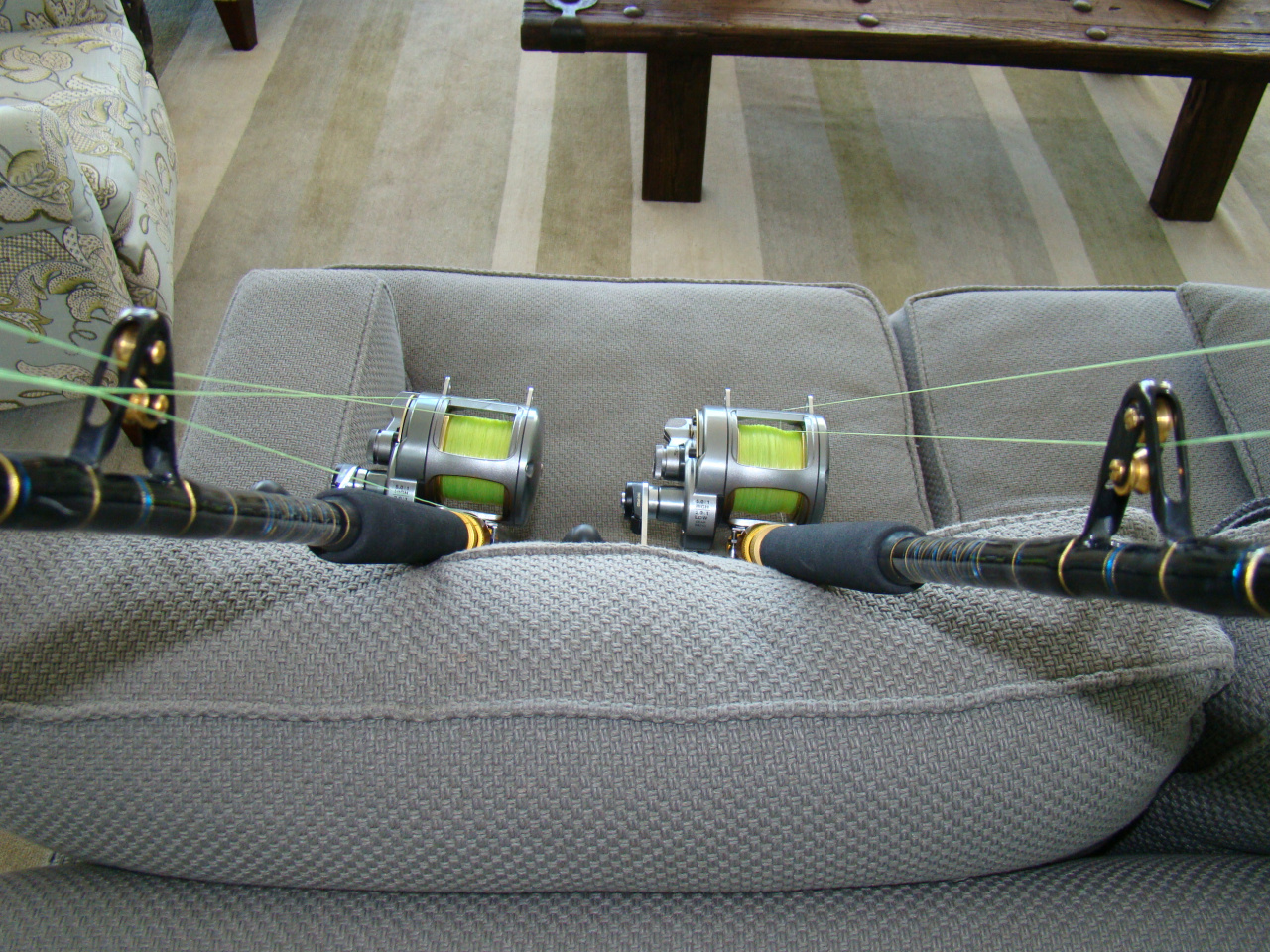 25f26adc2e8 ... Stuart 2 Shimano Tyrnos 20/2 Reels with Melton 6' Full Roller Rods, ...