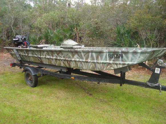 14' John Boat - 2007 15hp Mercury 4 stroke - trailer ...