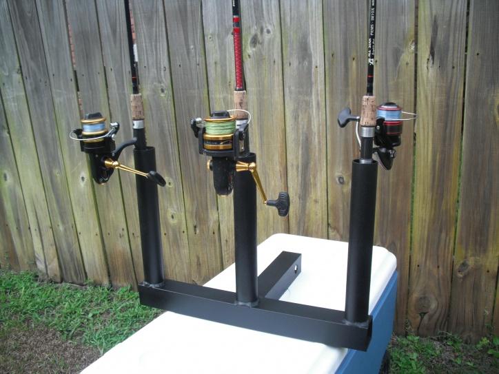 Aluminum rod holders pensacola fishing forum for Hitch fishing rod holder