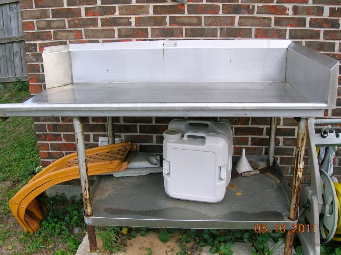Stainless Steel Fish Cleaning Table For Sale Pensacola