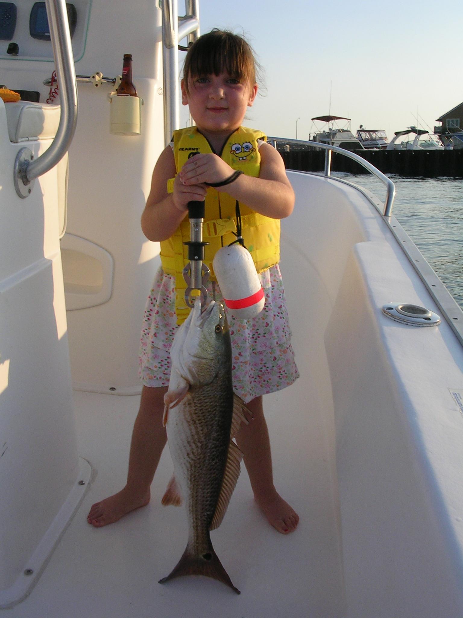 Daughter's First Redfish-dscn2305-jpg