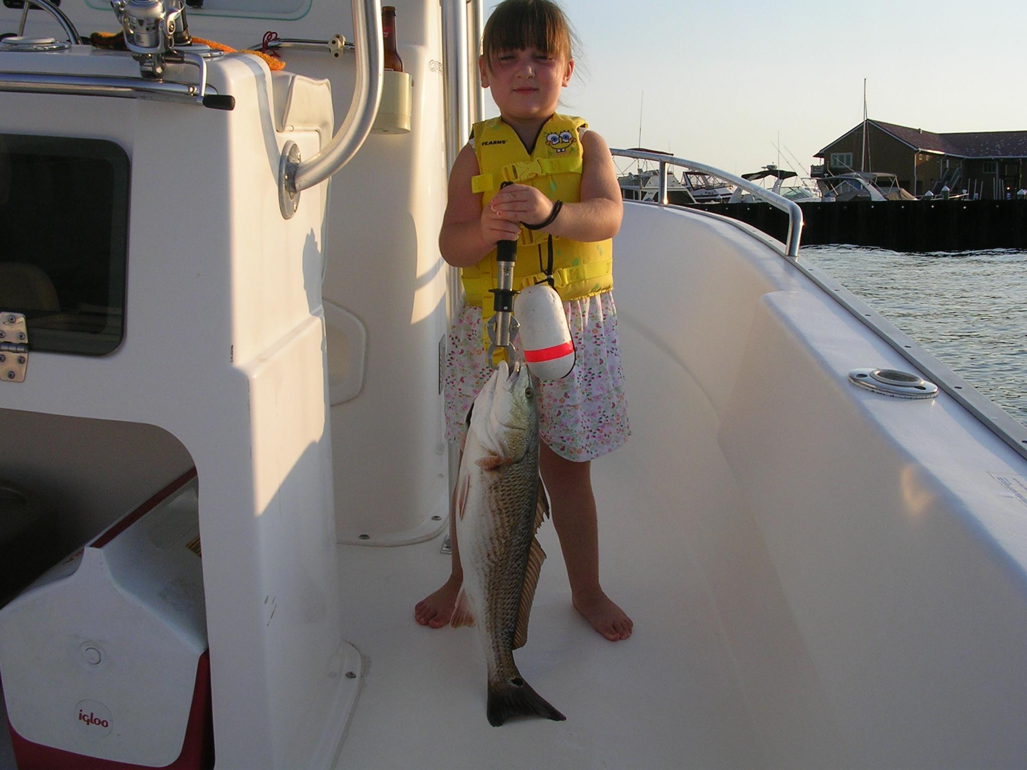 Daughter's First Redfish-dscn2306-jpg