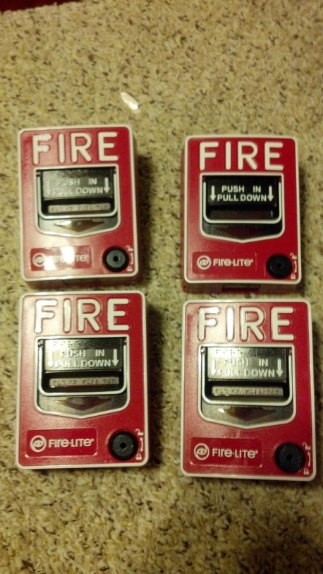 Commercial Fire Burglary Alarm System With Accessories