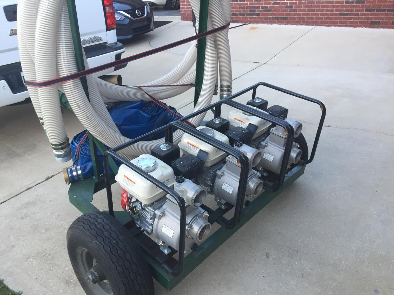 Honda trash pumps , with  3 inch lines-image-jpg