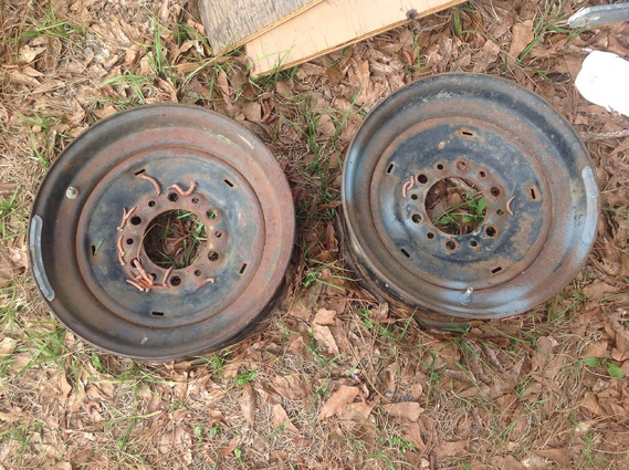 "Two 14.5"" by 6 lug trailer wheels for free-image-jpg"