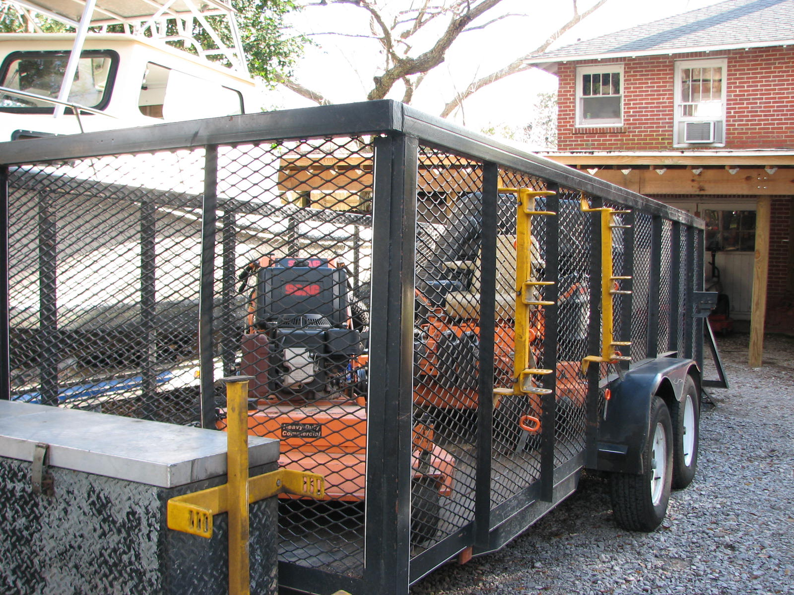 Lawn trailer and lawn mowing trailers for your service business.