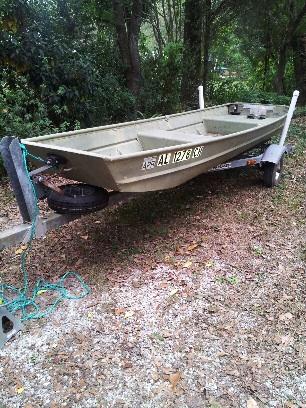 14 Ft Lowe Aluminum Jon Boat 1991 Amp Galvanized Trailer