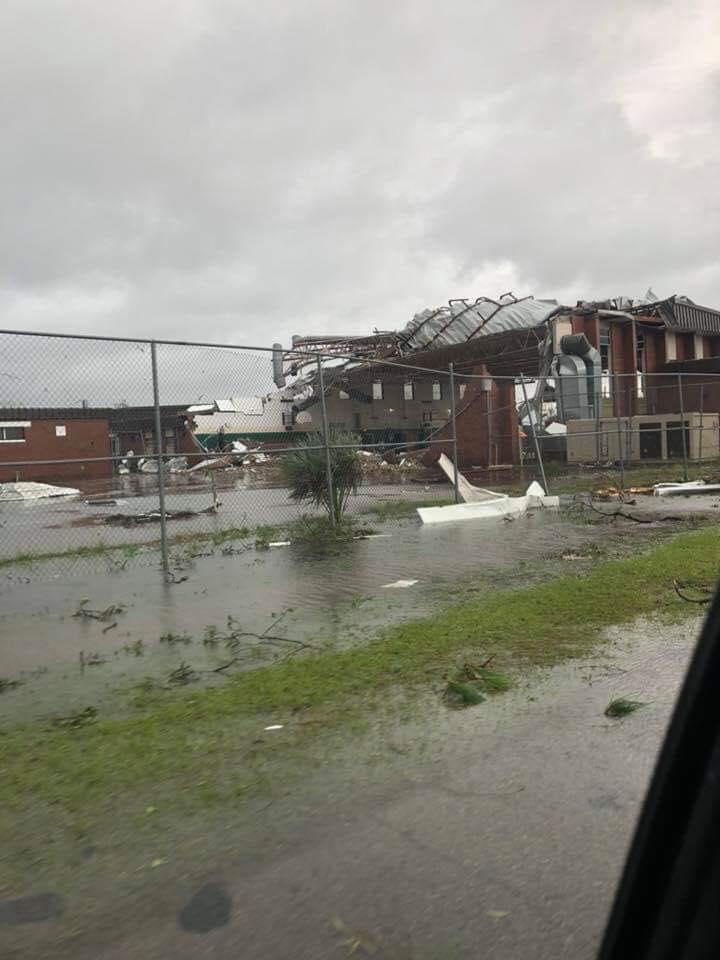 Panama City, Hurricane Michael Pics-jenks-middle-school-jpg