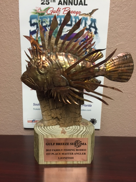 GB Sertoma Fishing Rodeo Has a great lionfish Division-lionfish-trophy-2015-jpg