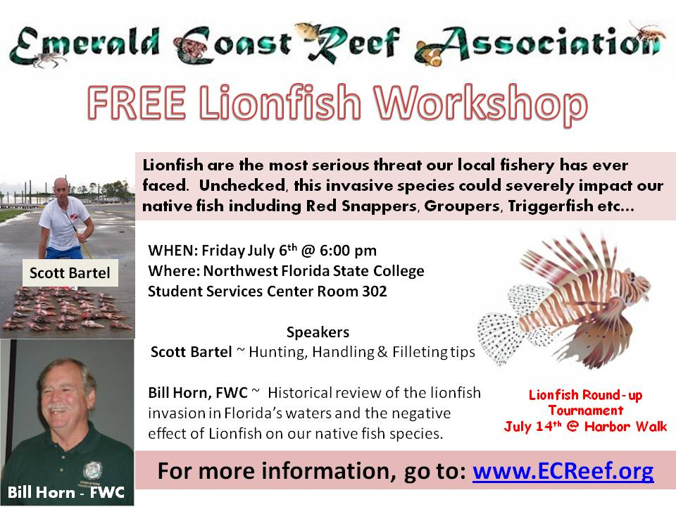 Lionfish Round-up & Spearfising Tournament-lionfish-workshop-flier-jpg