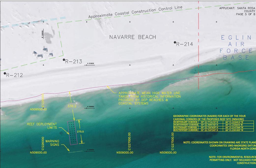 Navarre Gulf Side Snorkeling/Diving Reef Permited-nav-jpg