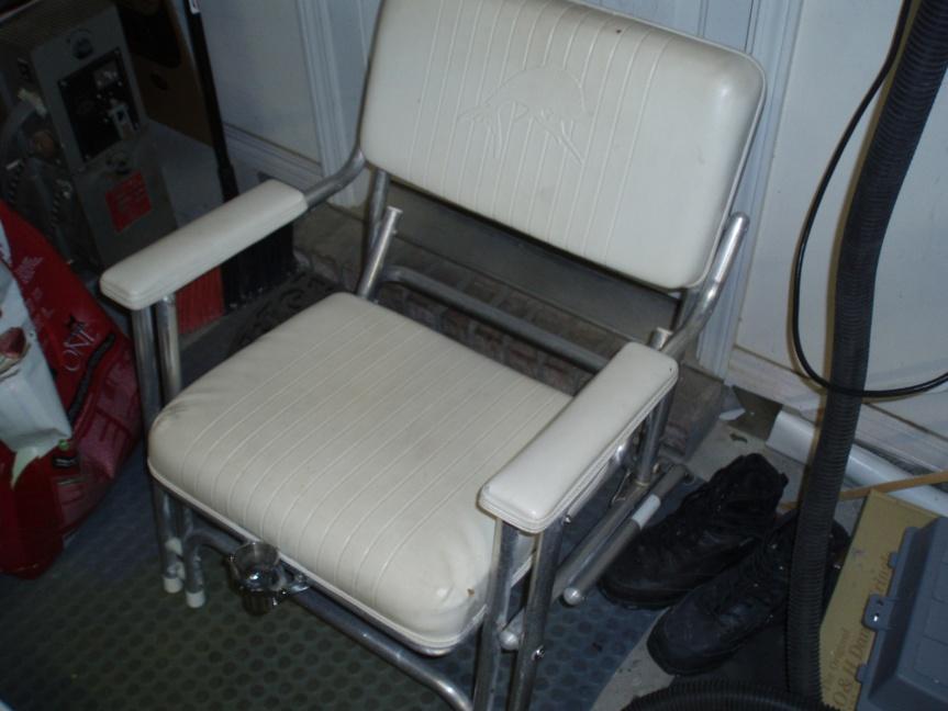 Boat chair with fishing gimbal-p1010474-jpg
