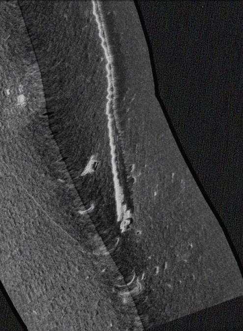 Side-scan sonar pics: 1500' of concrete pipe in Bay-pipe-end-jpg