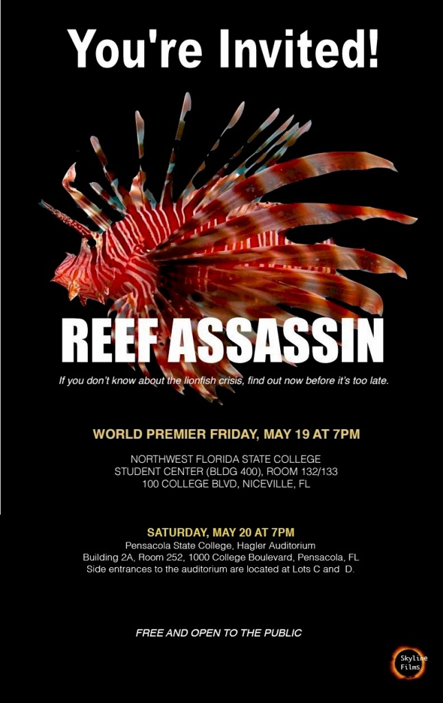 Invitation to Lionfish Documentary Pre-release screening-reef-assassin-ncvle-pcola-jpg