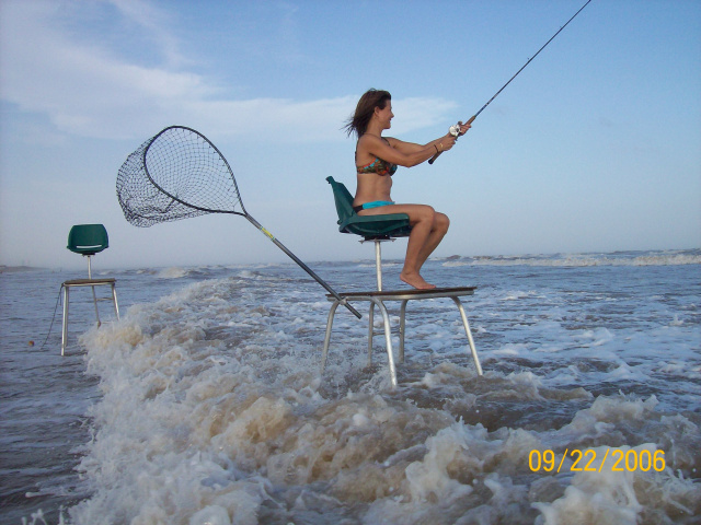 Has anyone been fishing the sandbars from a ladder for Florida surf fishing