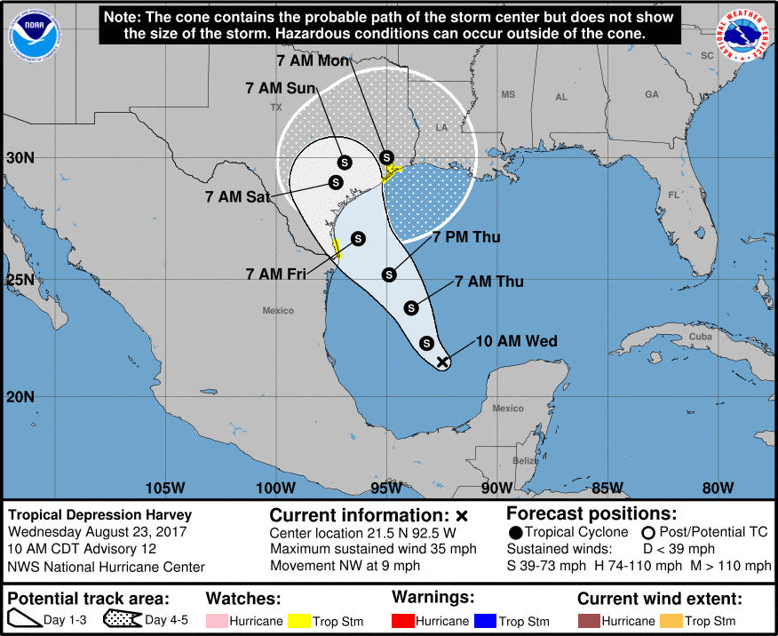 Tropical Weather = Harvey, That sure popped up fast.-td-harvey-jpg
