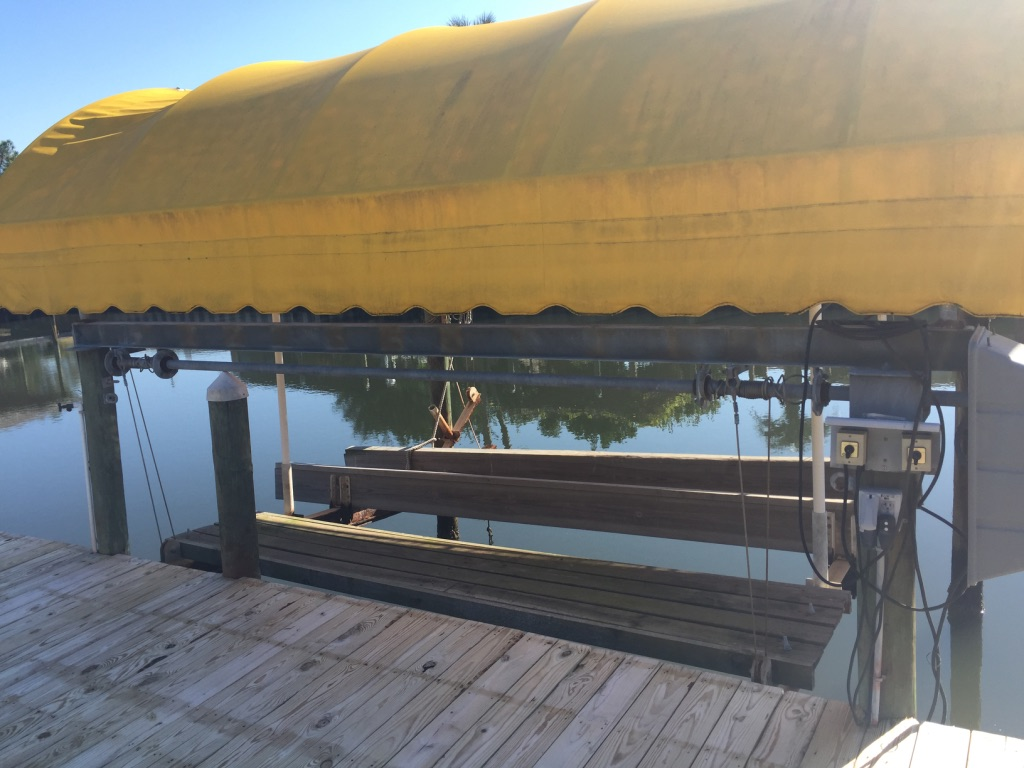 Boat lift canopy for sale (used) - Pensacola Fishing Forum