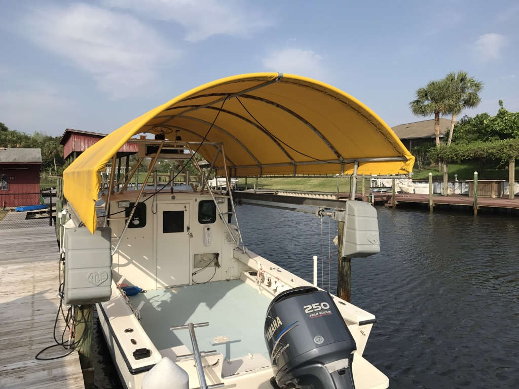 Used boat lift & canopy for sale - Pensacola Fishing Forum