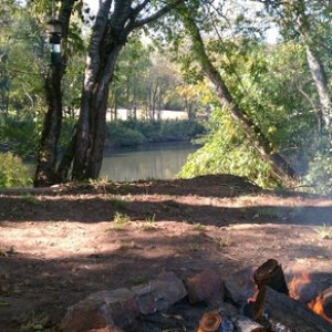 Camping on the bank of the Etowah...