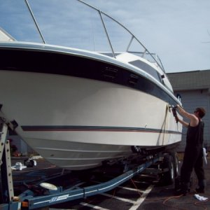 1988 - 27 ft. Bayliner (complete detail/compound & wax)