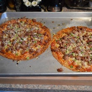 Homemade pizza with infinite possibilities