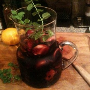 Homemade Sangria my ole lady loves this stuff in the summer.
