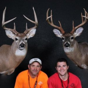 Me and dads top bucks from 2013 . Chad Cooper Mounts. Nuff said!!!