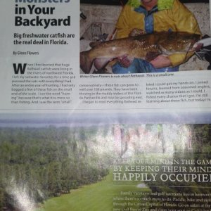 Another article in Florida sportsman magazine by yours trully. June issue check it out.
